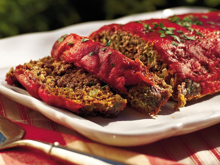 Old-fashioned Meatloaf | This Southern meatloaf recipe features Creole and Greek seasonings and a hint of garlic. A few tablespoons of Worcestershire sauce spice up the traditional ketchup topping.