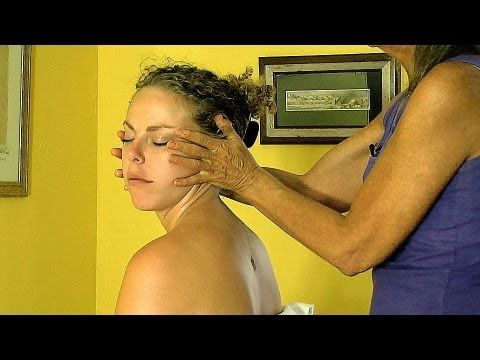 http://www.psychetruth.net    Neck Massage How To Give Sitting Chair Techniques Relaxing ASMR Massage Athena Jezik     In this series of videos Athena gives a demonstration on different techniques for massaging someone. Videos include the back, legs, thighs, arms, neck, face, feet, shoulders & belly.  These techniques are demonstrated on a woman but...