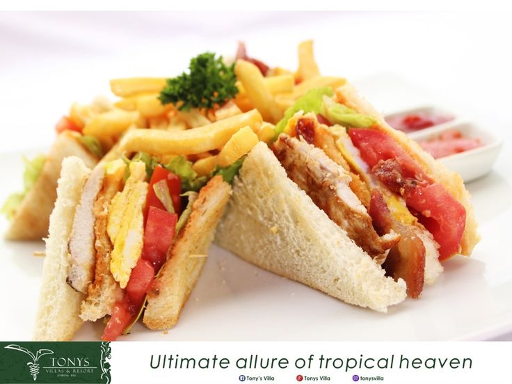 Can you resist the temptation of this sandwich?  Vegetables, eggs, meat, fresh tomatoes will be your stuffing sandwich today.  Take it on Buddha's Kitchen Restaurant. #bali #seminyak #tonysvilla #holiday #vacation #triptobali #family #friends #breakfast #lunch #sandwich #fresh #fitfood #healthy #foodie #foodgram #snack #potatoes #foodblogger #egg #vegetable #Saturday #homemade #instafood #foodporn #sauce #cocktail #happyhour