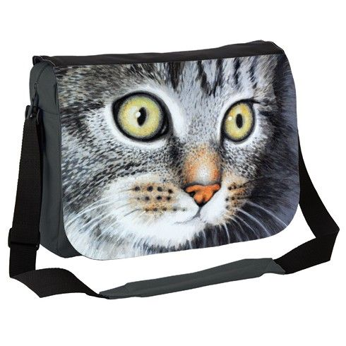 Kitten my pet cat Gigi Messenger Bag by simon-knott-fine-artist at zippi.co.uk
