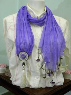 LAMPWORK BEADS BY OTTOMAN STUDIO: SILK SCARF AND LAMPWORK BEADS