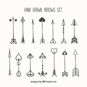 Hand drawn cute arrows