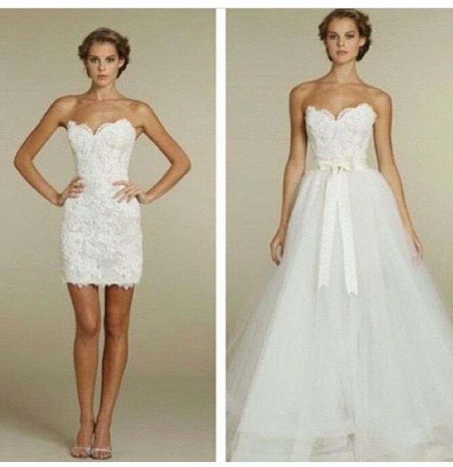 2-piece wedding dress? Not a bad thought