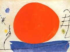 Joan Miro - paintings, biography, and quotes of Joan Miro.The Red Sun