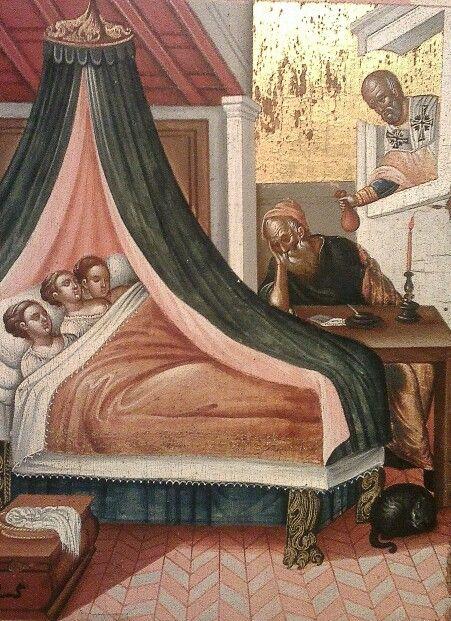 Βίος Αγ.Νικολάου, χειρ Αγγέλου (λεπτομέρεια), μουσείο Μπενάκη