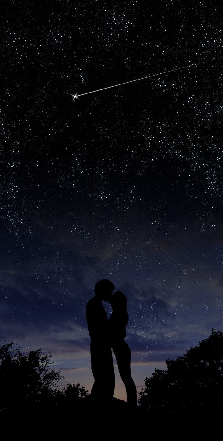 kissing under the stars.