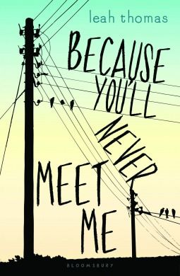 Because You'll Never Meet Me by Leah Thomas -- Published 2nd Jul 2015.  Realistic fiction. Friendship.