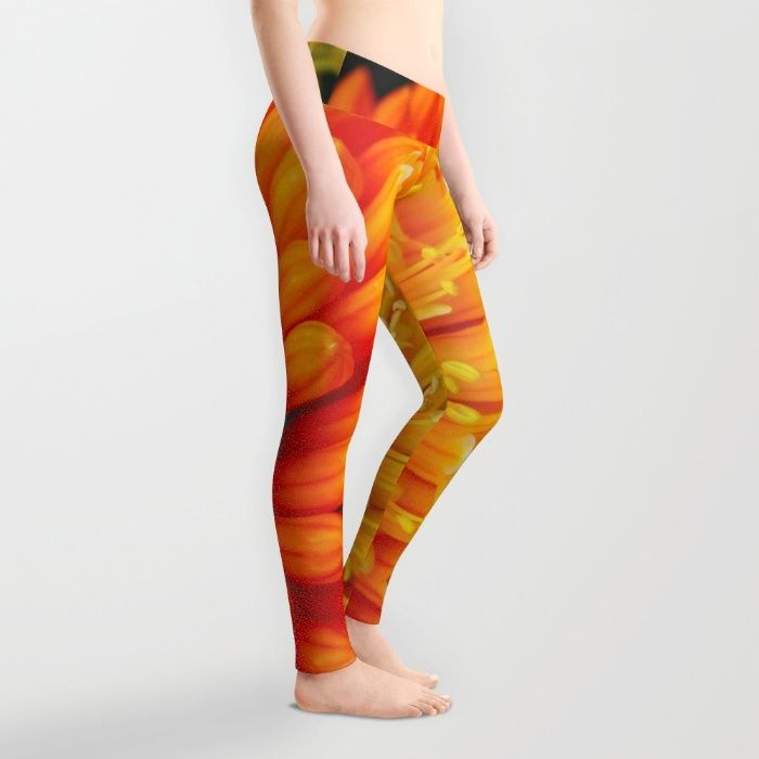 Kniphofia Rooperi Leggings by Mixed Imagery | Society6