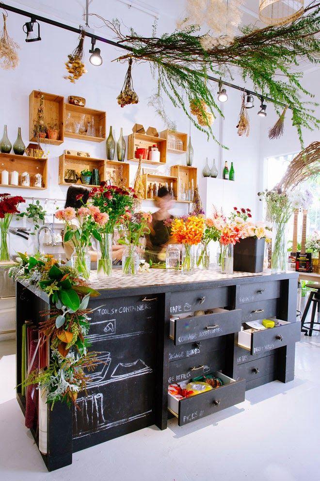 Een charmante bloemenwinkel | Versier je ZIEL - Blog decoratie, interieur, kids, trucs, ontwerp ...
