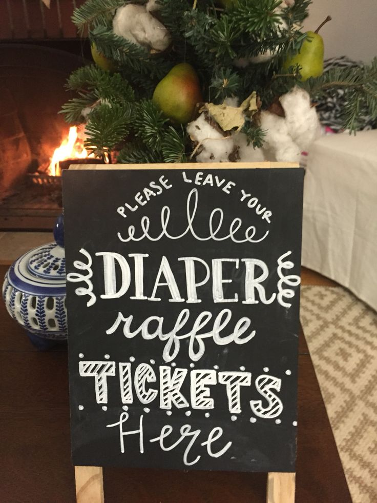 A diaper raffle means the sweet mama went home with more diapers than she could have ever imagined! Guests won fun prizes for bringing diapers of varying sizes