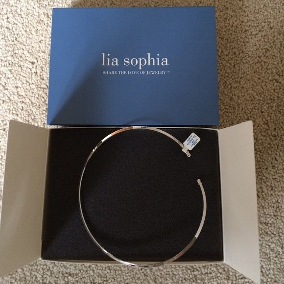 Lia Sophia silver collar necklace Beautiful, never worn collar necklace Lia Sophia Jewelry Necklaces