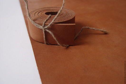 Шитье ручной работы. Ярмарка Мастеров - ручная работа. Купить Заготовка из кожи, ручки для сумки. Чепрак. Цвет темно - бежевый. Handmade.