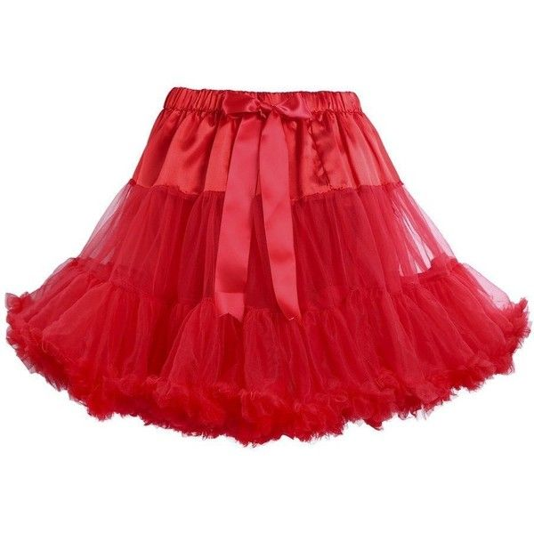 Jusian Women's Tutu Lolita Pettiskirt Dancing Party Skirts ($27) ❤ liked on Polyvore featuring skirts, tutu skirts, red tutu skirt, party skirts, red tutu and red skirt