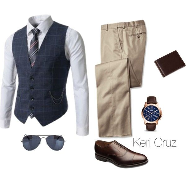 Set1.1 by keri-cruz on Polyvore featuring NLY Accessories, Allen Edmonds and FOSSIL