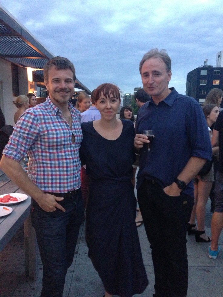 Hamish Barney, Rebekah Campbell & Jeremy Colless at HQ Christmas drinks