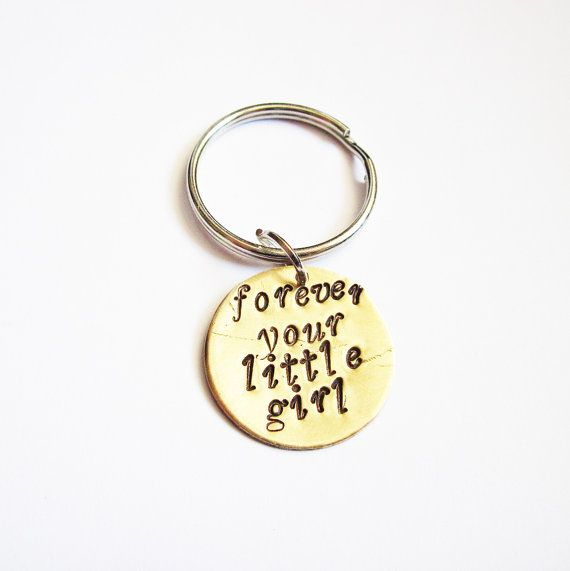Father's day keychain Forever your little girl by RobertaValle