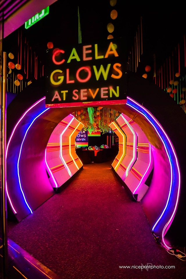 Caela S Glow In The Dark Themed Party Entrance Glow In Dark