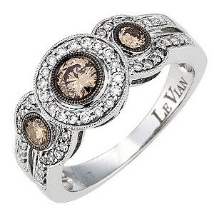 LeVian 14CT Gold Sixty Point White & Chocolate Diamond Ring - Product number 8789487