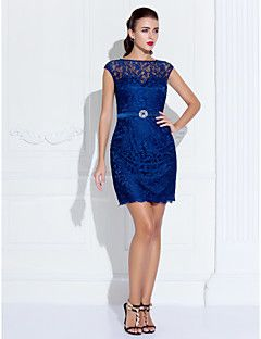 Cocktail Party/Homecoming/Holiday Dress Sheath/Column Scoop ... – USD $ 109.99