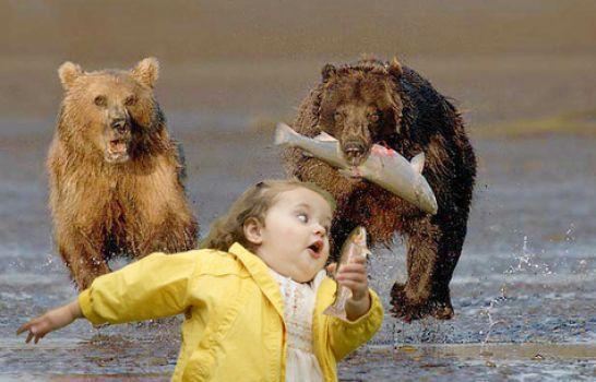 Little Girl Running Away Humor Funny Funny Kids