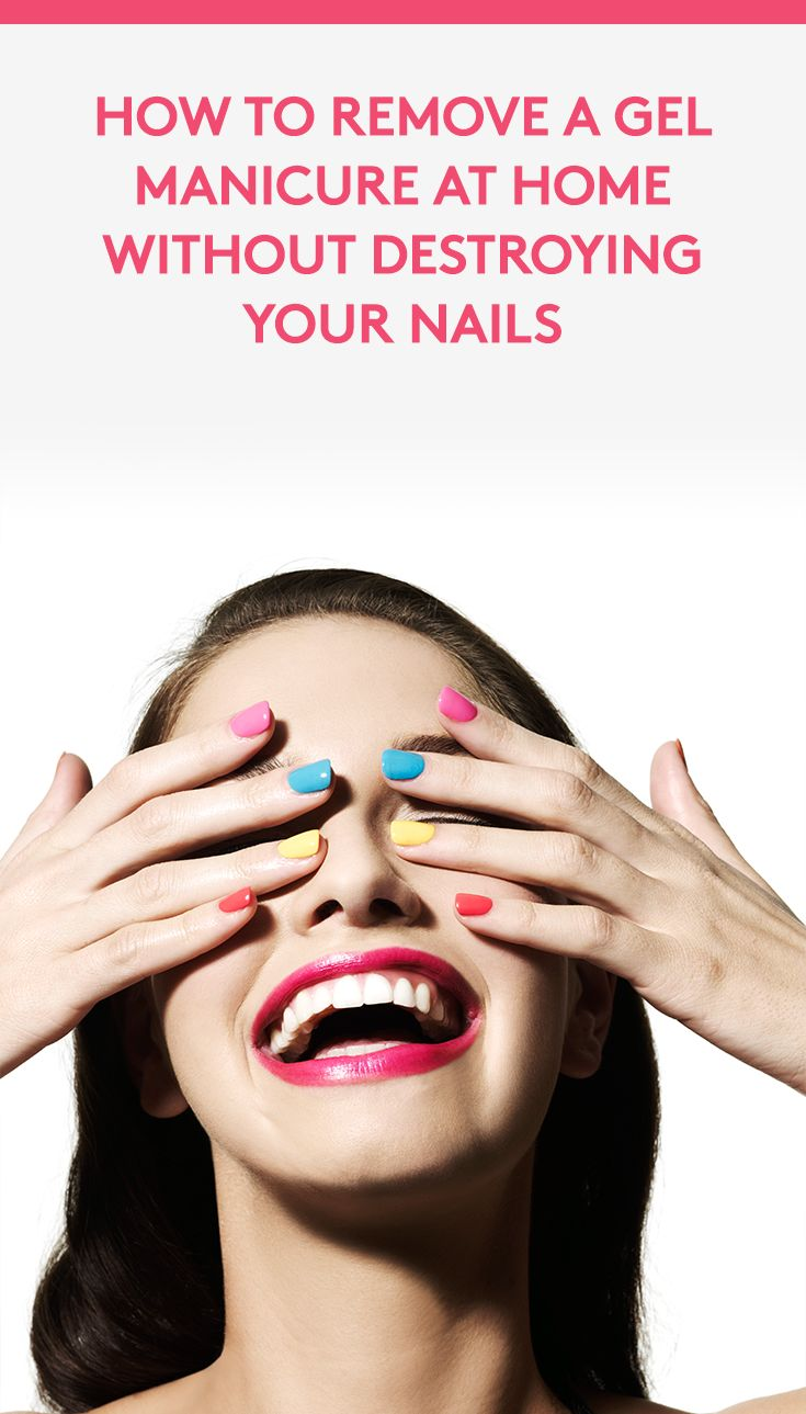 How to Remove a Gel Manicure At Home Without Destroying Your Nails   Have a love-hate relationship with gel nail polish? The pros: The polish is super shiny and lasts for weeks—there's no annoying chips regardless of how many dishes you do. The cons: The dreaded removal process takes time and can seriously wreck your nails. We asked celebrity nail expert, Tracylee (@luxebytracylee), for her advice on taking off gel polish at home.