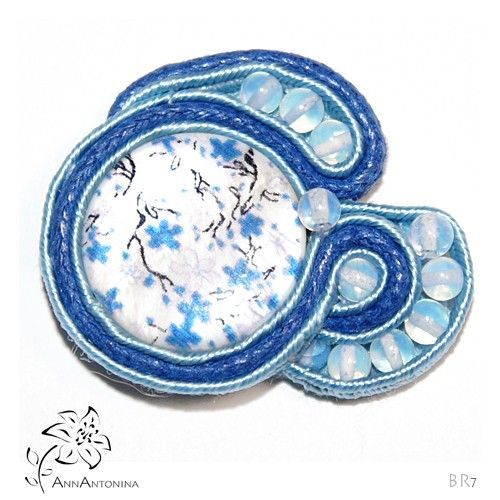 Niezapominajka broszka - Broszki - Biżuteria artystyczna