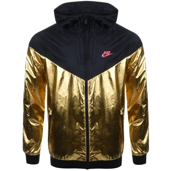 9781bae0e472 Nike Windrunner Jacket Gold ( 115) ❤ liked on Polyvore featuring nike