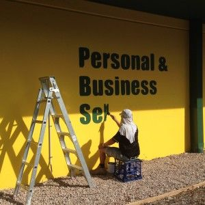 Hand Painted Sign Writing at Self Storage Castle Hill