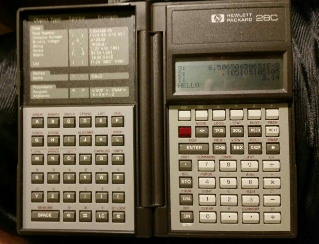 HP 28C RPN graphing calculator
