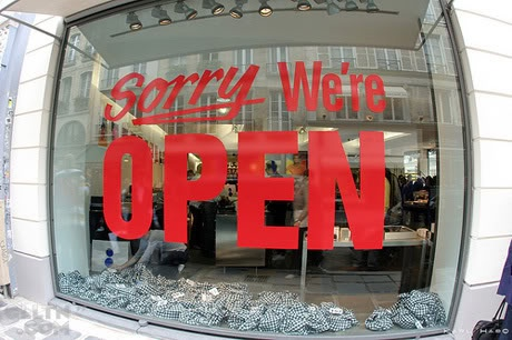 sorry we're open!