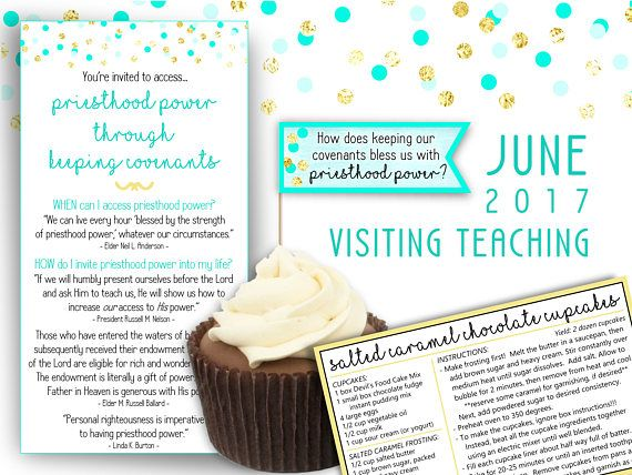 $2.00, June 2017 Printable Visiting Teaching Message and Handouts