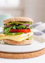 Avocado, Egg and English Muffin Sandwich