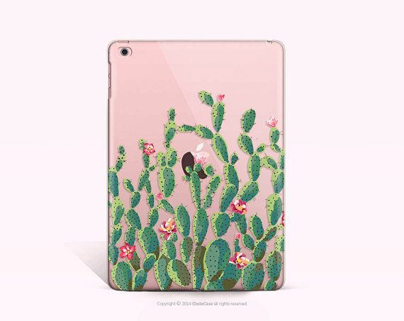 iPad mini 4  Case Cactus iPad 4 Case Clear iPad Air 2 by iDedeCase