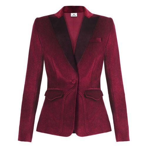 Altuzarra for Target Velvet Blazer in Ruby Red
