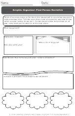 Free Printables Personal Narrative Graphic Organizer 4