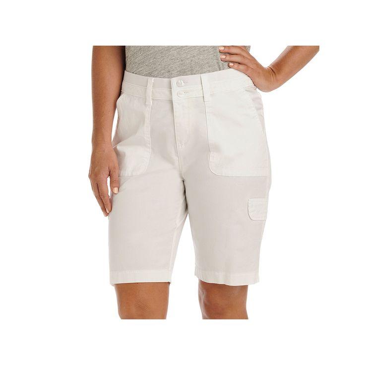 Women's Lee Avery Cargo Bermuda Shorts, Size: 8 - regular, White