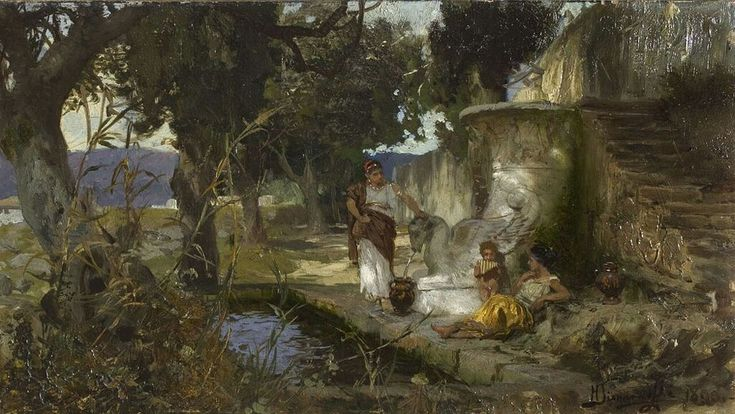Henryk Siemiradzki, Scena przy studni