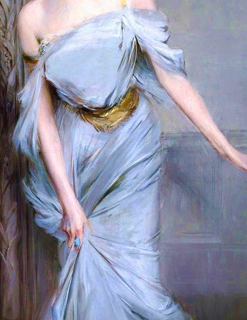 Madame Charles Max, detail, by Giovanni Boldini, 1896.