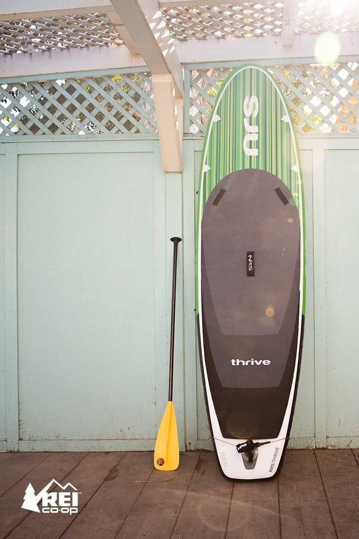 Carry it deflated in a backpack (included), and store it in a closet. The NRS Thrive inflatable stand up paddle board bundle delivers an ideal all-around shape and performance that rivals a hard board. The bundle also includes high-pressure pump with gauge, repair kit, shoulder carry sling, 12 ft. coil leash and a 3L Ether HydroLock dry bag. Get a Thrive and skip the transport and storage hassles of a big board.