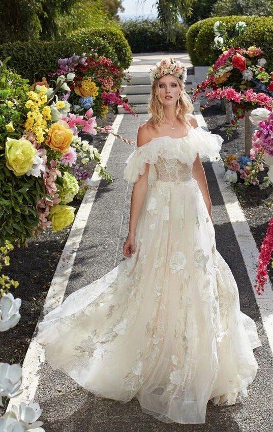 Courtesy of Galia Lahav Wedding Dresses; Photographer: Greg Swales; Wedding dress idea.