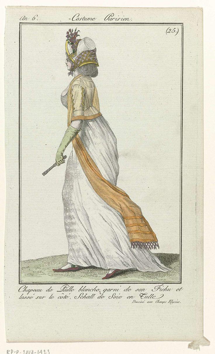 Journal des Dames et des Modes, Costume Parisien, 8 juin 1798, An 6 (42) : Chapeau de Paille..., Anonymous, 1798