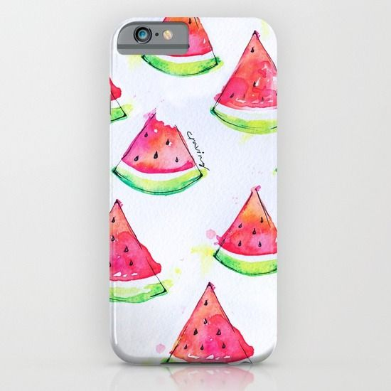Watermelon Watercolor Print  iPhone & iPod Case
