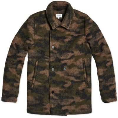Norse Projects Birk Winter Wool Coat (Camouflage)