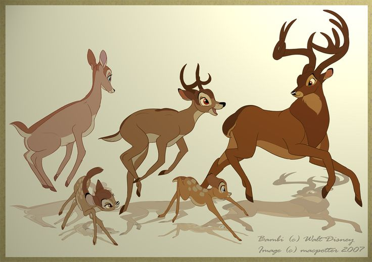 how to draw bambi and faline