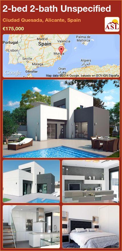 2-bed 2-bath Unspecified in Ciudad Quesada, Alicante, Spain ►€175,000 #PropertyForSaleInSpain