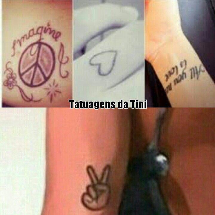 """Tatuagens da Tini! IMAGINE:: Essa tatuagem foi feita em homenagem a música """"Imagine"""" do John Lennon que a Tini cantou na """"Juntada Tinista"""" onde milhares de Tinistas se juntaram!"""