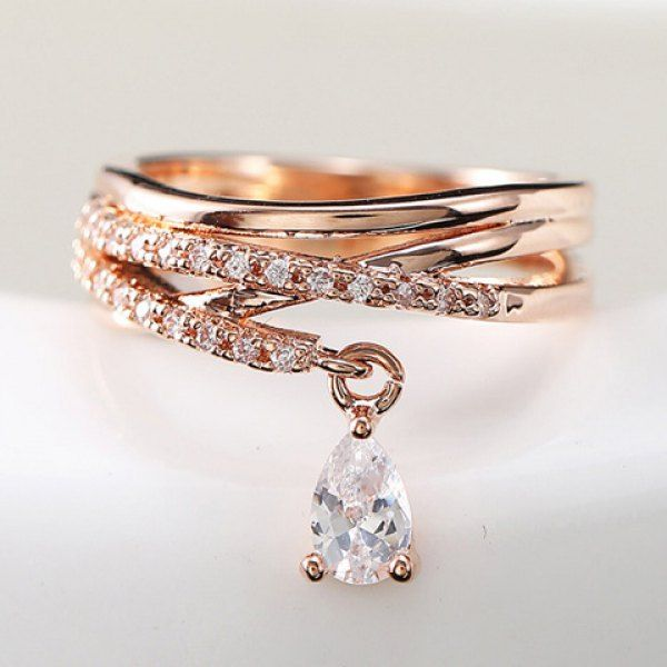 Wholesale Fashion Women's Rhinestone Crystal Decorated Ring Only $6.40 Drop Shipping | TrendsGal.com