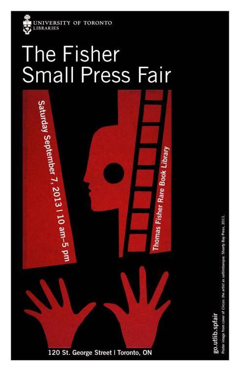 Thomas Fisher Rare Book Library Small Press Fair, Sept 7th 2013