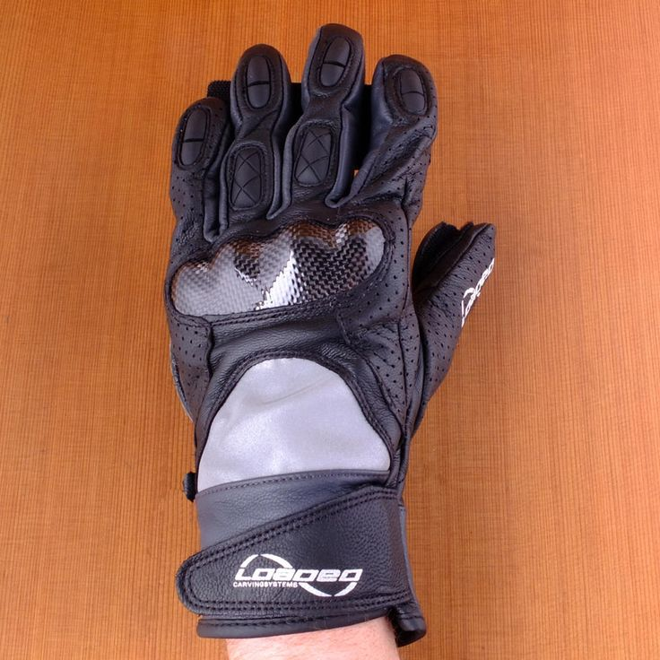 Loaded Leather Black Races Slide Gloves Back