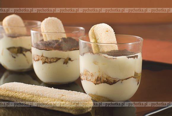 Piec razem z pychotką. pl. setki wyśmienitych przepisów na ciasta. Tiramisu Agi . Potrzebujesz: jajek, mąki, biszkopty